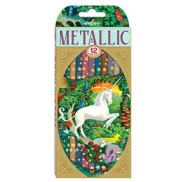 Metallic Colored Unicorn Pencils - eeBoo - Bella Luna Toys