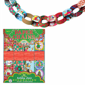 Paper Chains Kit - Holiday - eeBoo - Bella Luna Toys