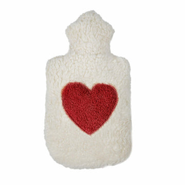 Child's Hot Water Bottle with Organic Cotton Cover