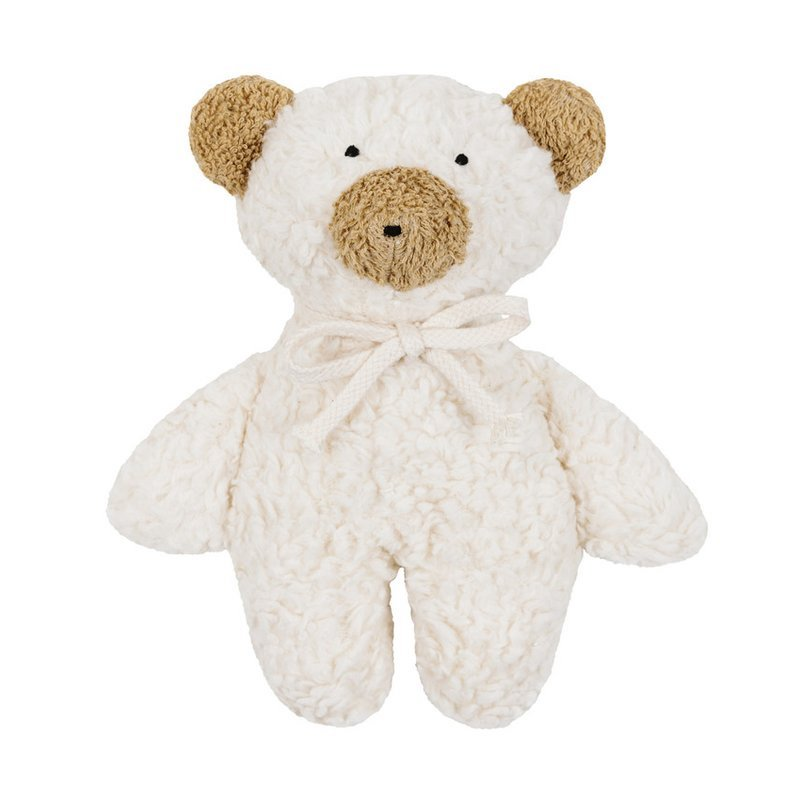 Organic Stuffed Bear Soft Baby Rattle - Bella Luna Toys