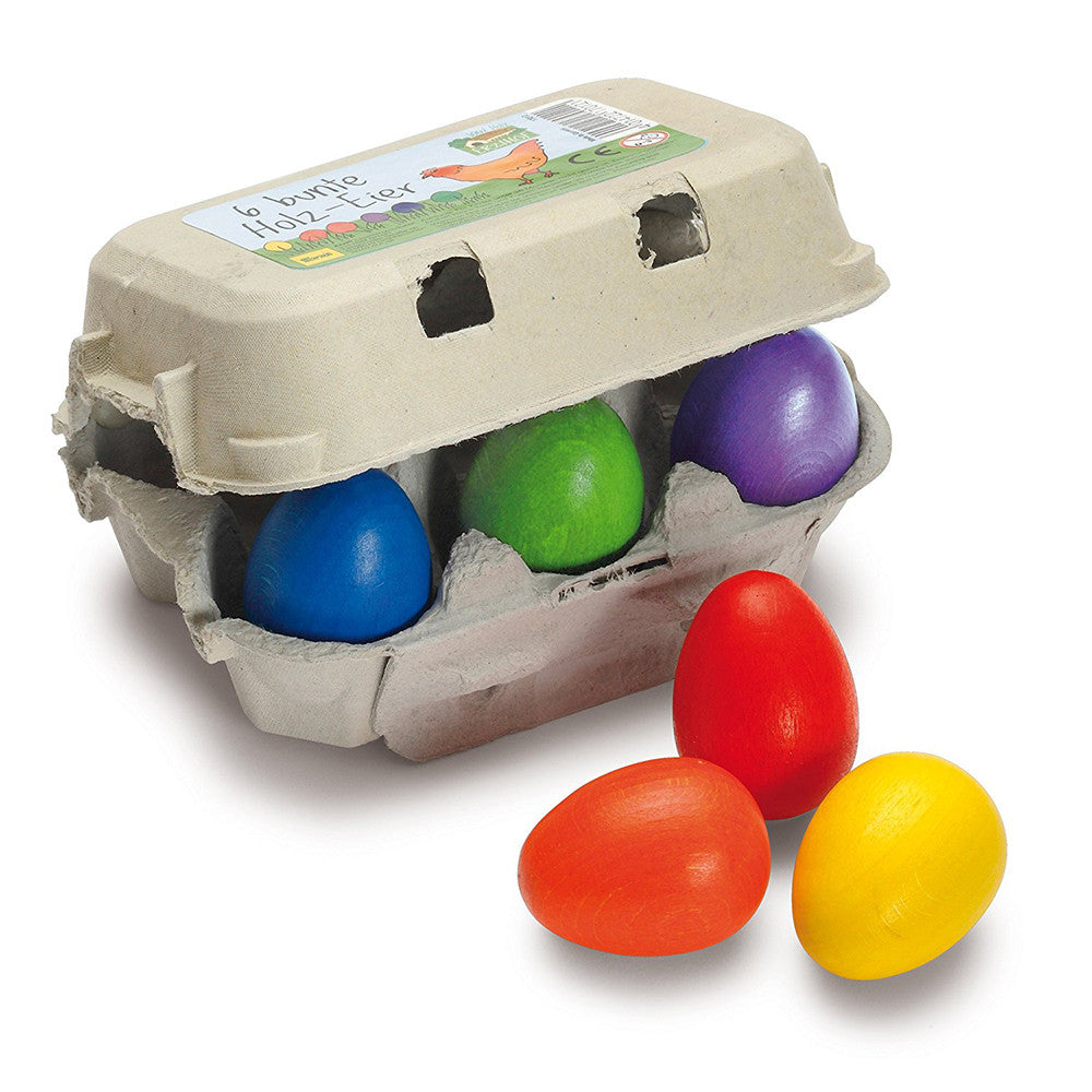 Image of Colored Eggs - Wooden Play Food