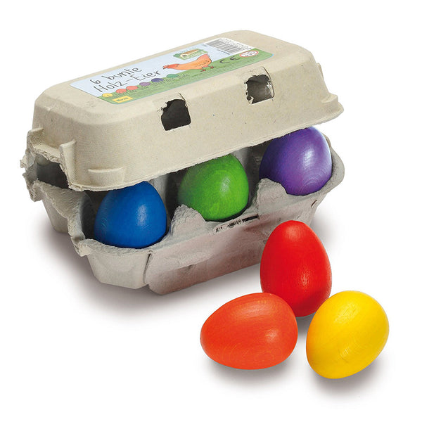 Wooden Colored Eggs - Six Pack - Erzi Play Food