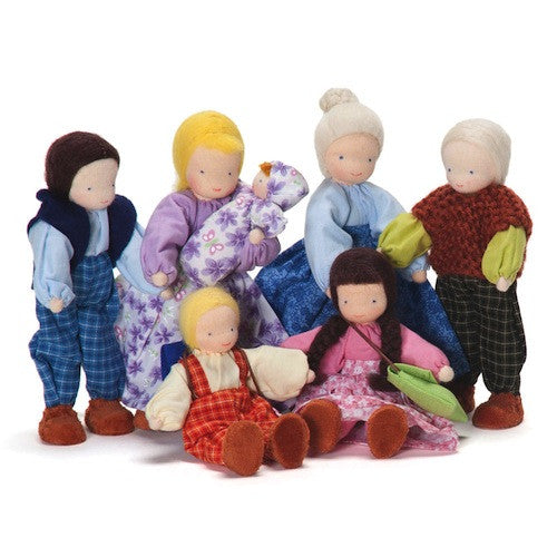 Evi Dollhouse Family Dolls, Blonde Mother