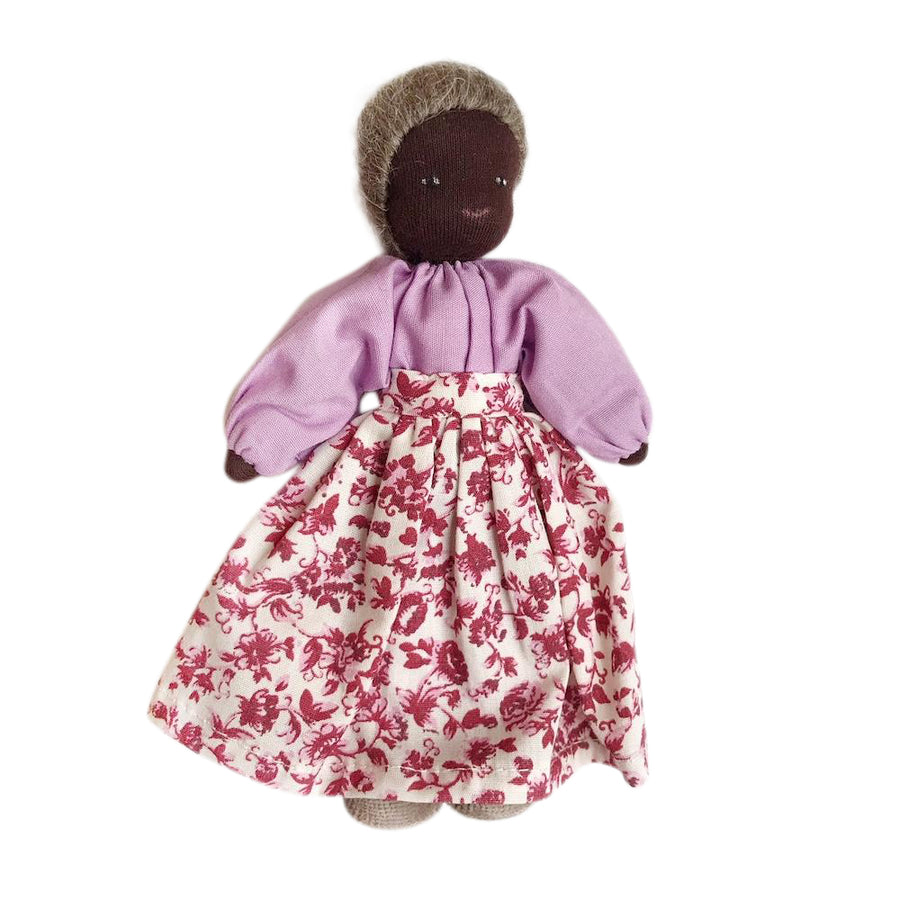 Evi Dollhouse Grandmother - Dark Skin - Bella Luna Toys