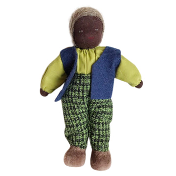Evi Dollhouse Grandfather - Dark Skin - Bella Luna Toys