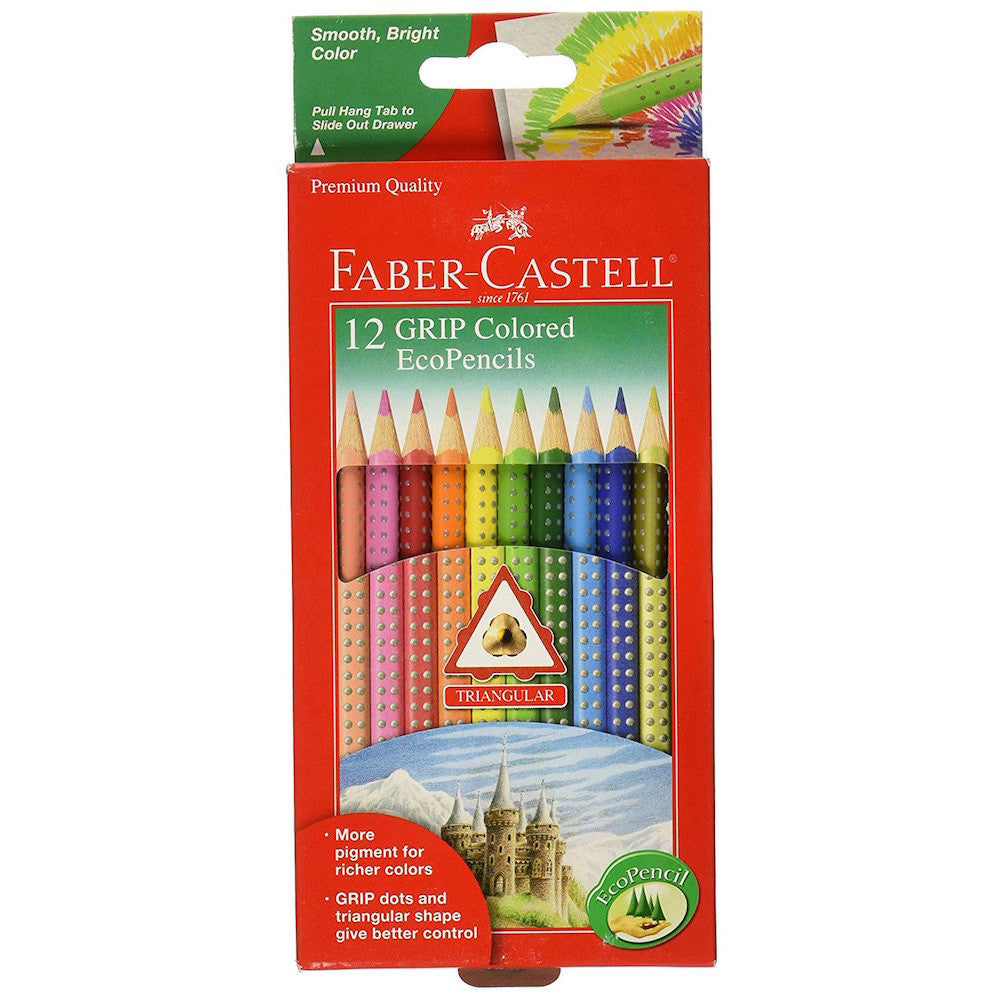 Faber-Castell 12 GRIP Kids Colored Eco Pencils 912-1012