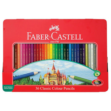 Faber-Castell Classic Colour Pencil Sketch Set, Tin of 48