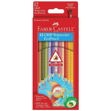 Faber Castell Watercolor Colored Pencils Grip Triangular - 12