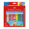 Faber Castell Watercolor Colored Pencils Grip Triangular - 24