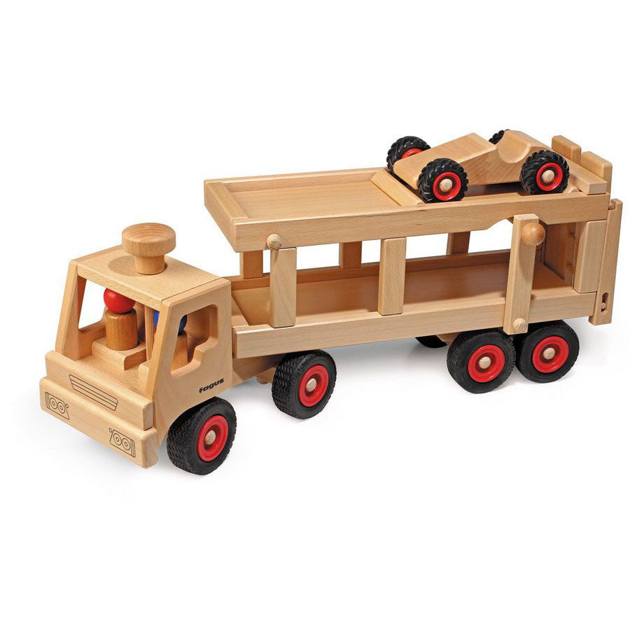 Wooden Toy Cars And Trucks : Car transporter wooden toy truck