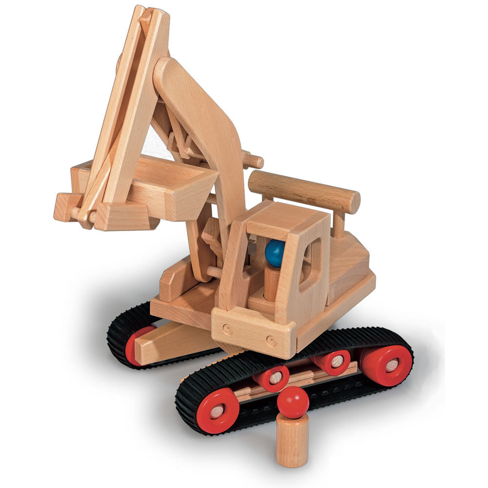 fagus excavator wooden toy truck. Black Bedroom Furniture Sets. Home Design Ideas