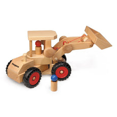 Fagus Front End Loader Wooden Toy Truck with Cab