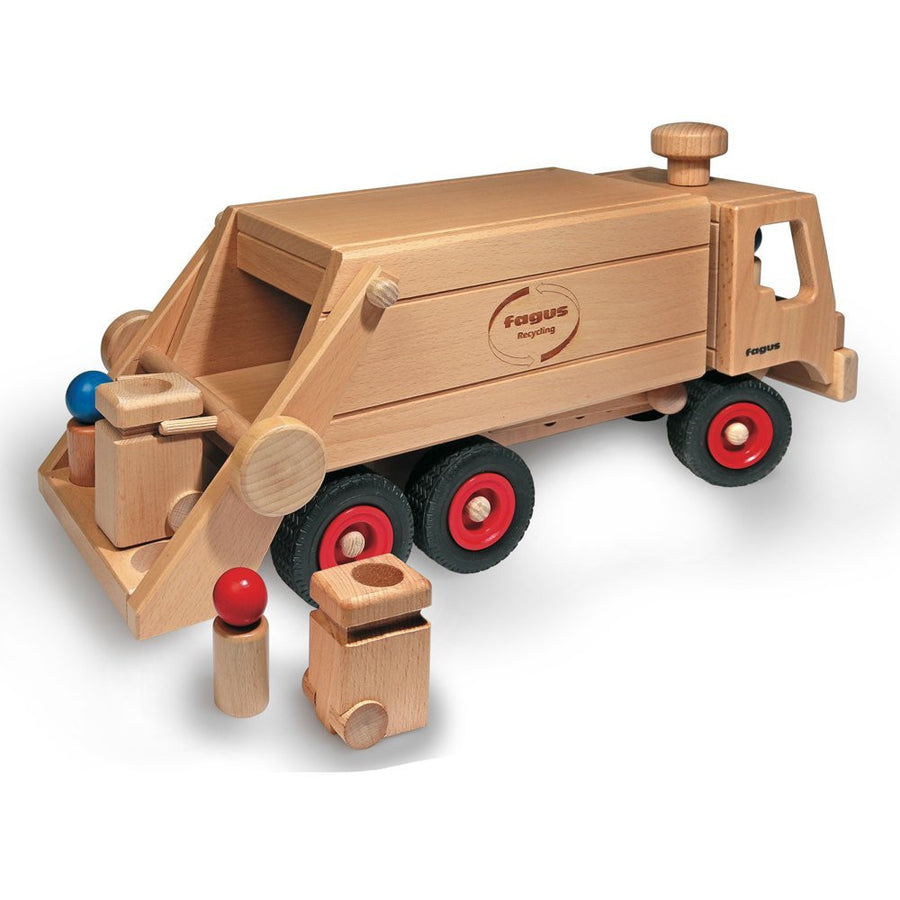 Fagus wooden toy garbage truck 10.66