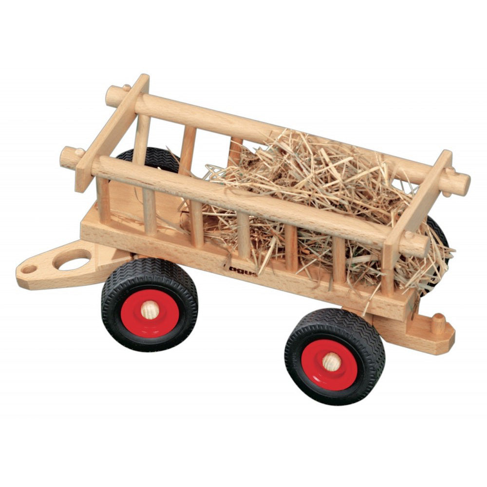 Wagons For Toys : Wooden hay wagon for fagus toy tractor accessory