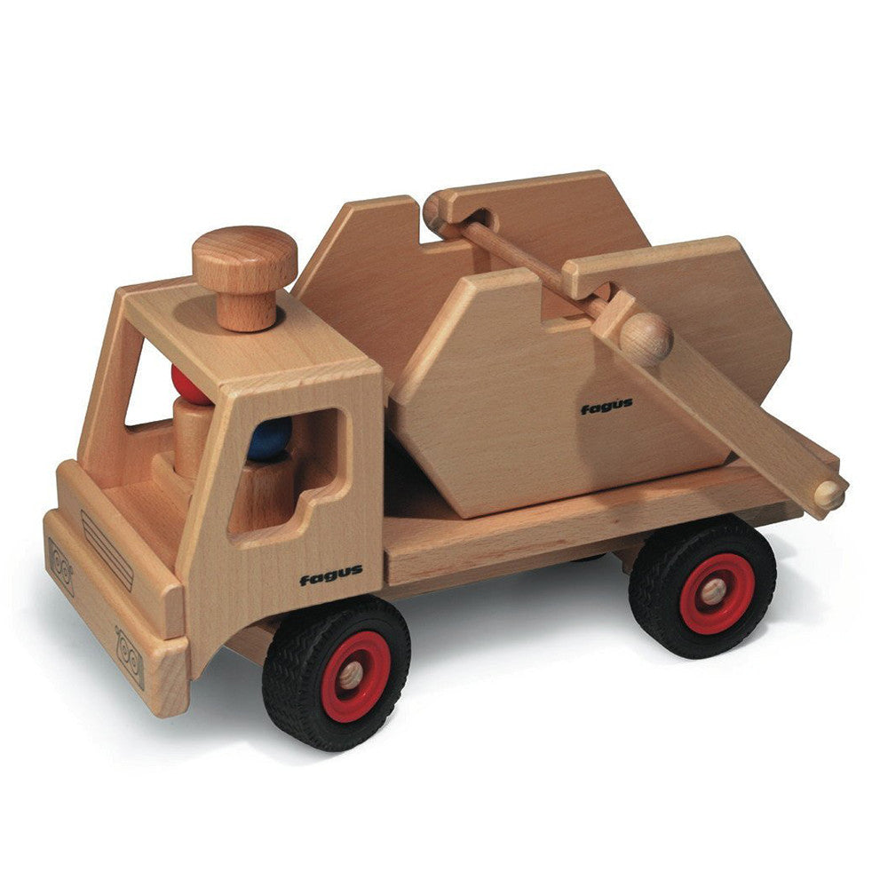 Wooden Toy Cars And Trucks : Wooden toy skip dump truck