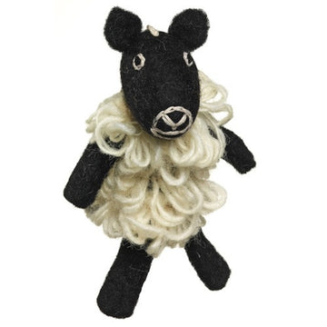 Fair Trade Wool Felt Sheep Finger Puppet