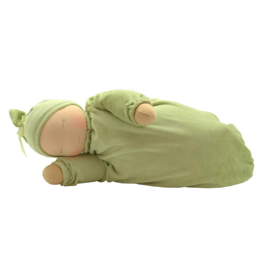 Little Heavy Baby Waldorf Doll - Sage Green | Bella Luna Toys