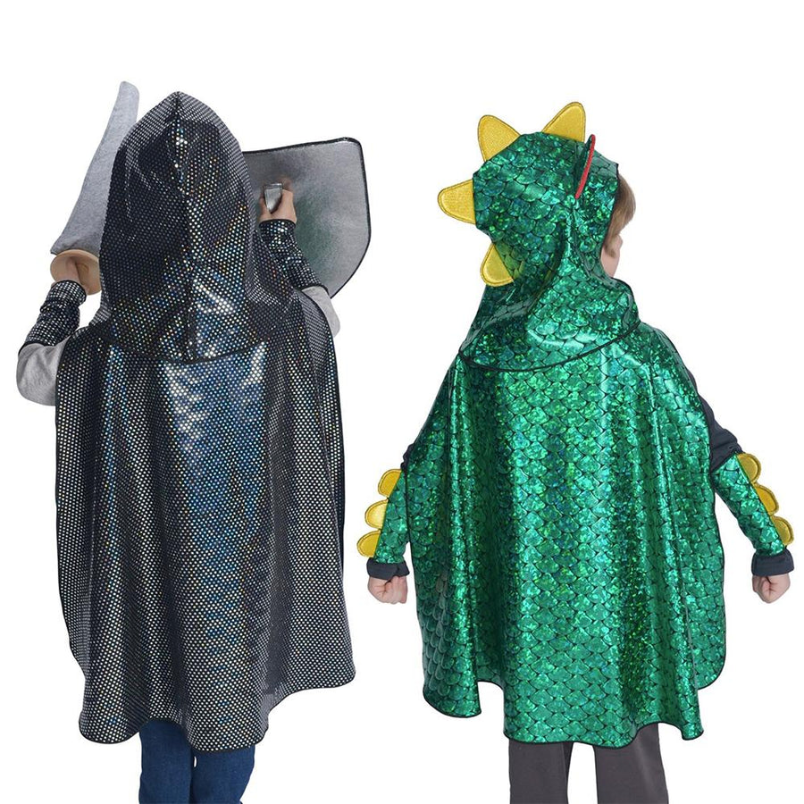 Fairy Finery - Dragon & Knight Reversible Costume - Halloween Cape