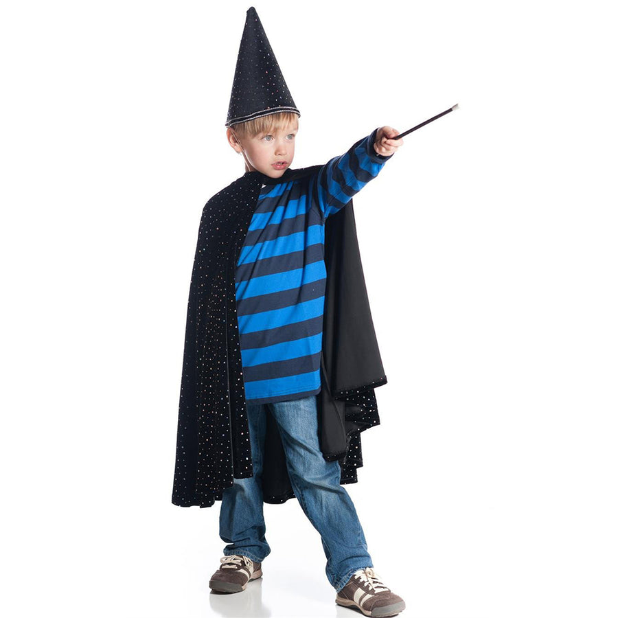 Boys Black Velvet Wizard Halloween Costume - Bella Luna Toys