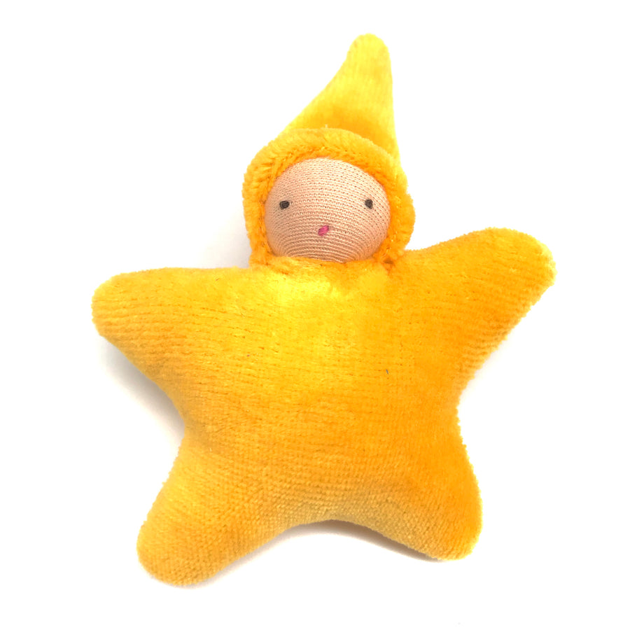Star Child Miniature Waldorf Baby Doll - Bella Luna Toys - Peach Gold