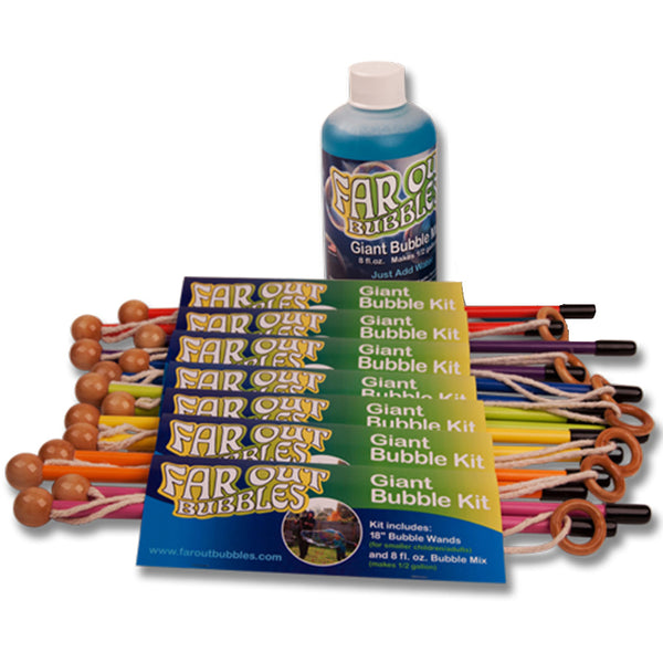 Far Out Bubbles - Giant Bubble Blowing Kit
