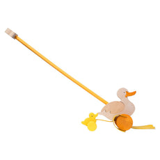 Push Along Duck - Toddler Wooden Push Toy - Bella Luna Toys