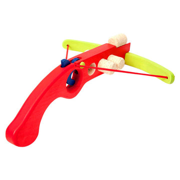 Cork Shooter - Wooden Toy Crossbow - Fauna Trade - Red