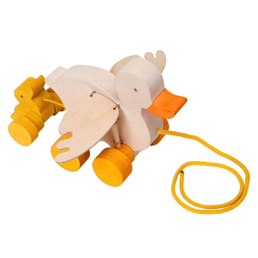 Fauna Trade - Wooden Duck Pull Toy - Bella Luna Toys