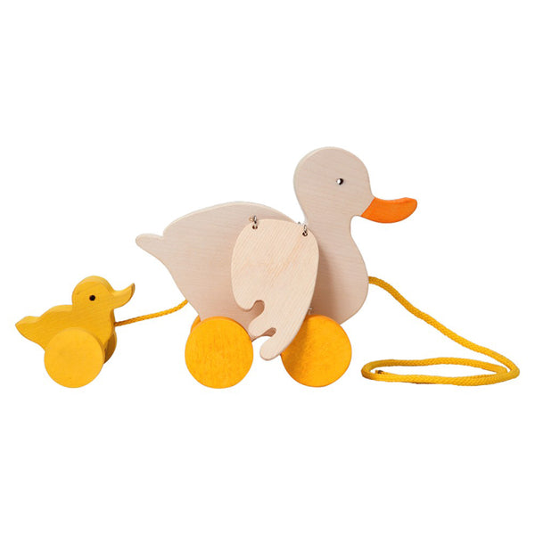 Fauna Trade - Wooden Pull-Along Duck Toy - Bella Luna Toys
