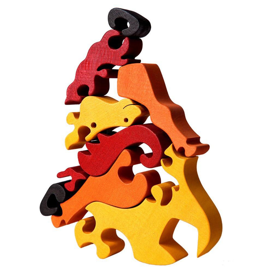 Wooden Horse Jigsaw Puzzle - Disassembled View - Bella Luna Toys