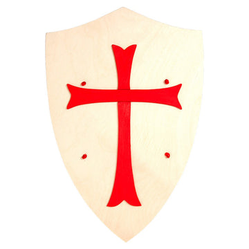 Wooden Toy Shield - Red Cross - Bella Luna Toys