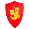 Fauna Trade - Wooden Toy Knight's Shield - Red with Green Dragon Emblem