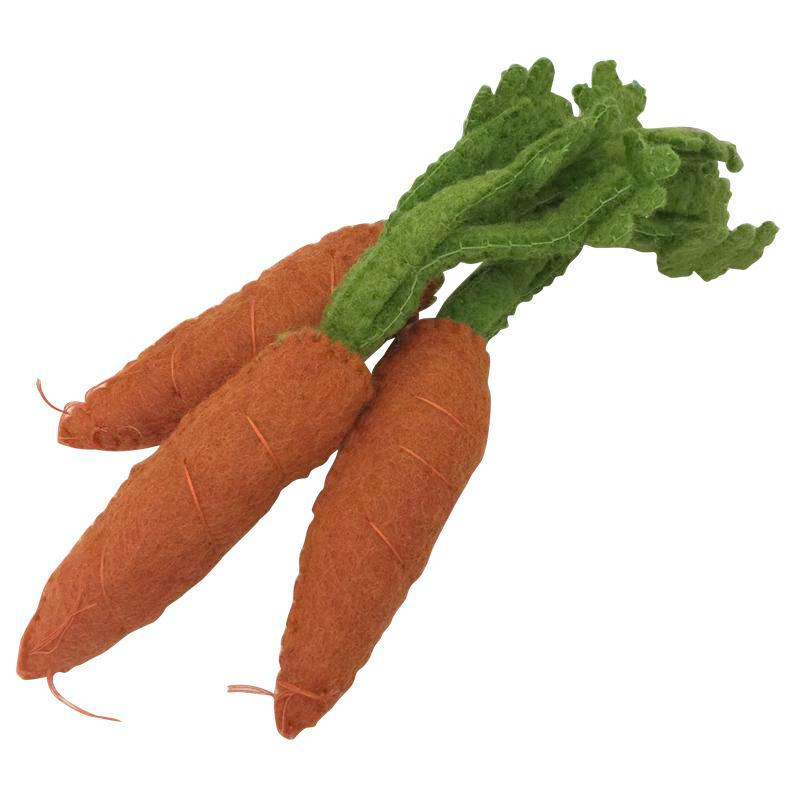 Felt Carrots - Play Food - Bella Luna Toys