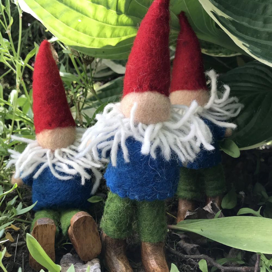Papoose Toys Felted Gnome Dolls - Set of Three - Bella Luna Toys