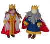Felted King and Queen Puppets