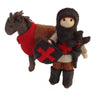 Felted Knight and Horse Puppets