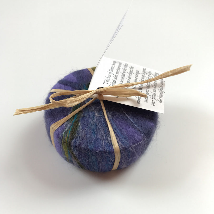 Goat's Milk Felted Soap Made in Maine - Purple - Bella Luna Toys
