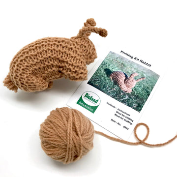 Organic Wool Knitting Kit - Bunny Rabbit