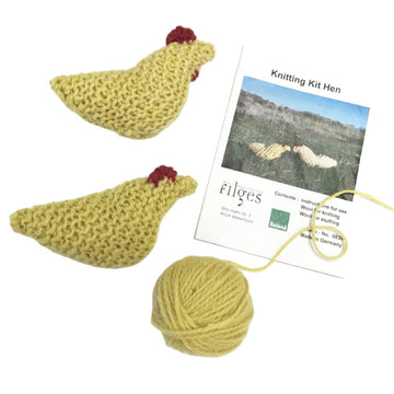 Filges Organic Wool Knitting Kit - Chickens - Bella Luna Toys