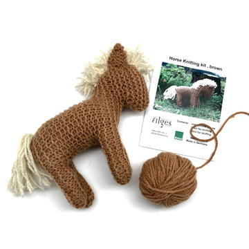 Filges Organic Wool Knitting Kit - Horse