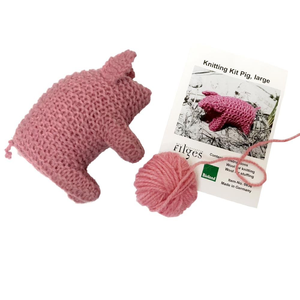 Filges - Organic Wool Knitting Kit - Pig