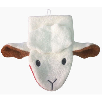 Organic Cotton Sheep Washcloth | Bella Luna Toys