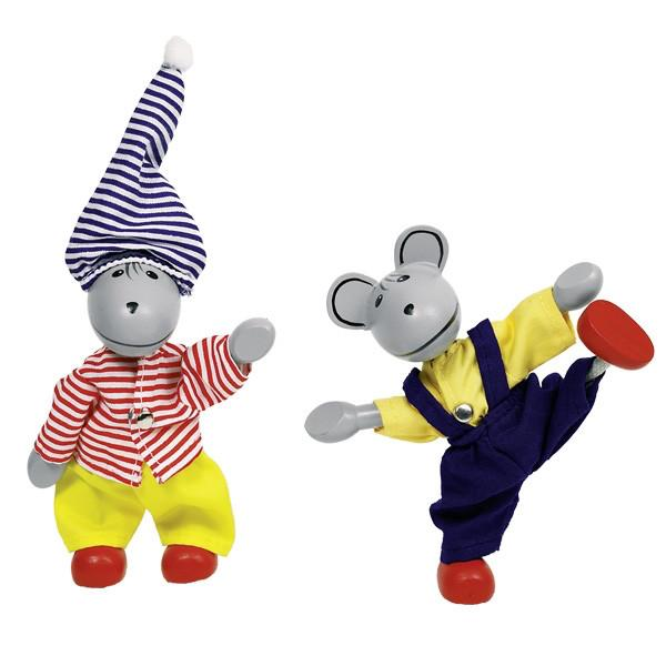Goki - Lia & Luca - Dress-Up Wooden Mice