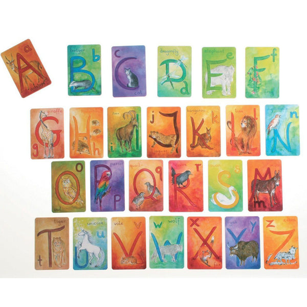 Waldorf Alphabet Cards, English