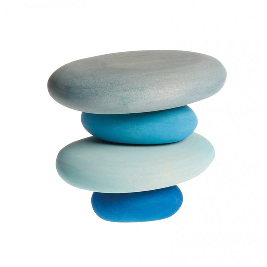 Colored Wooden Pebble Blocks - River