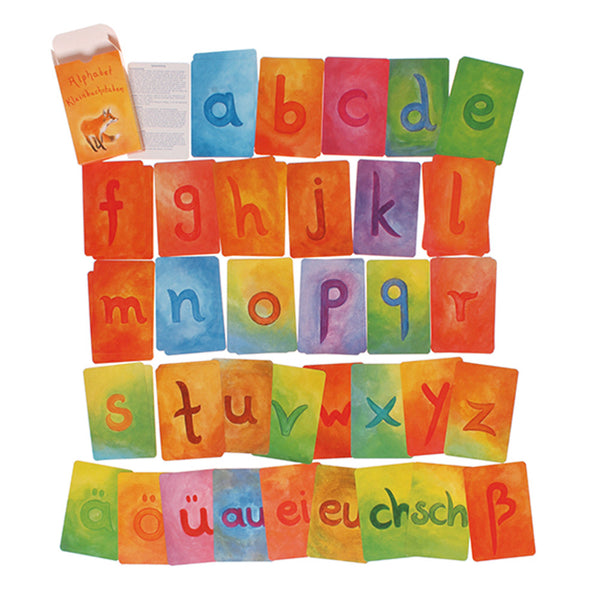 Waldorf Alphabet Letter Cards - Supplementary Pack