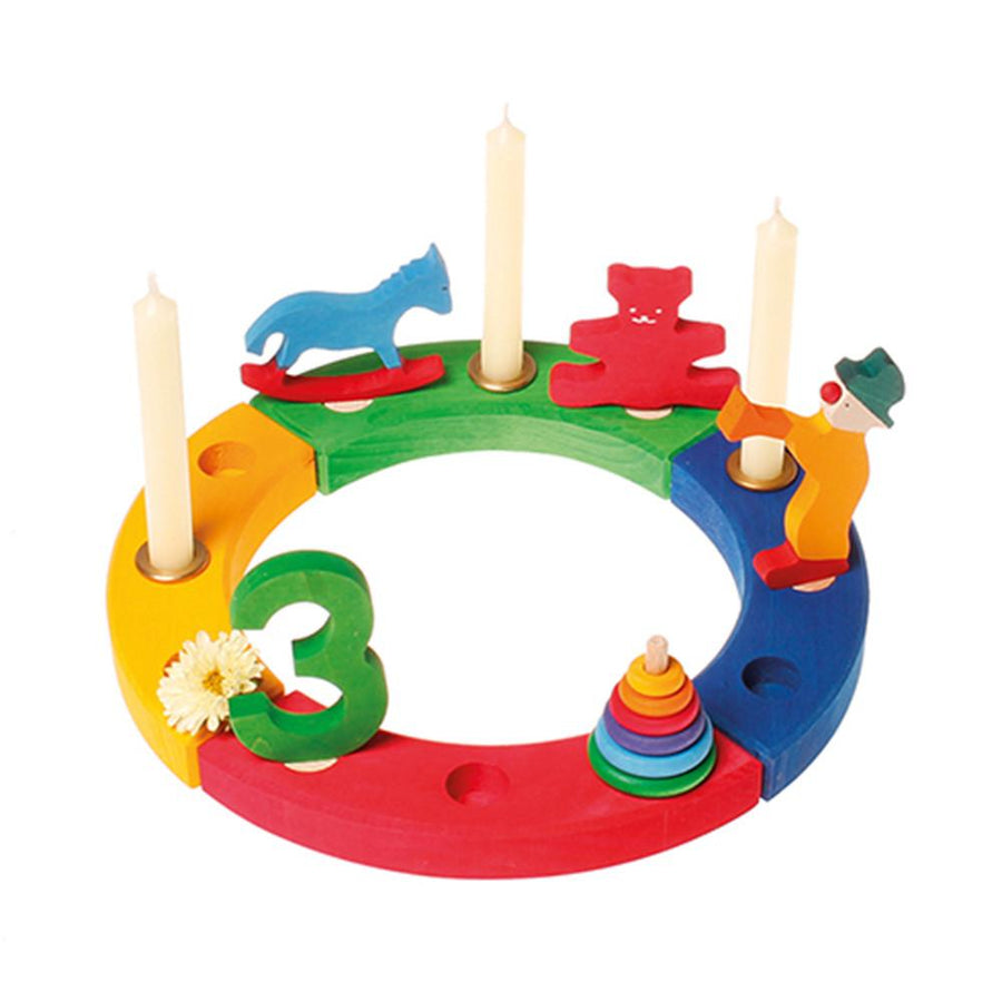 Waldorf Birthday Ring - Rainbow - Decorations sold separately