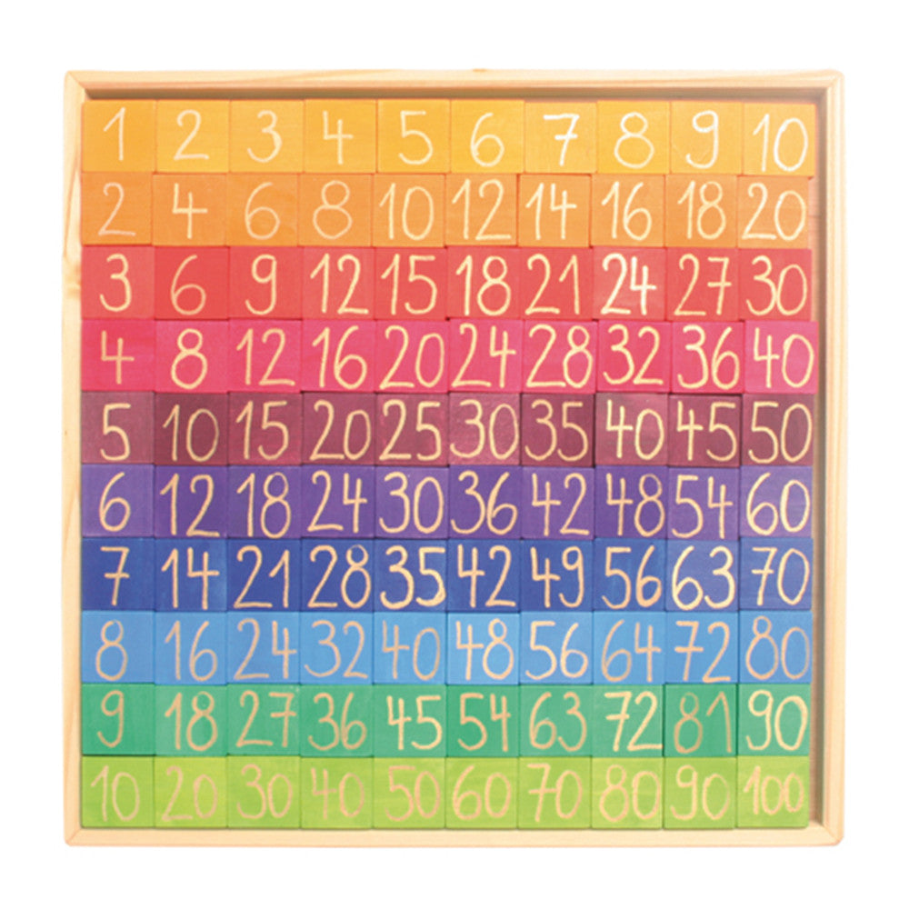 Grimms Counting With Colors Wooden Number Chart