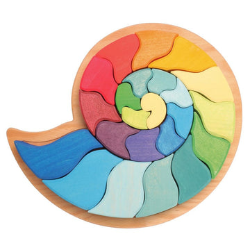 Grimm's Large Ammonite Snail - Wooden Puzzle Blocks