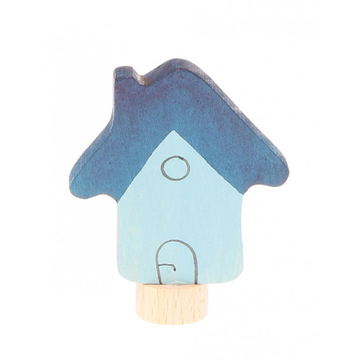 Grimms Spiel & Holz, Birthday Ring Decoration, Blue House